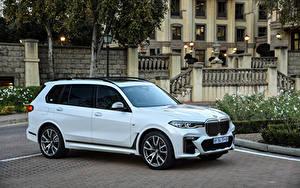 Фотография BMW CUV Металлик Белая 2019 X7 M50d машины