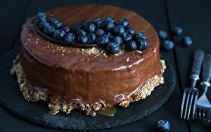 Обои Сладости Торты Шоколад Черника Еда