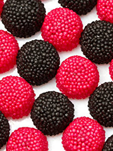 Картинка Сладости Конфеты Мармелад Черный Красный Еда