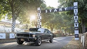 Фотография Ford Черные Fastback 2018, 1968 Mustang GT Bullitt Автомобили