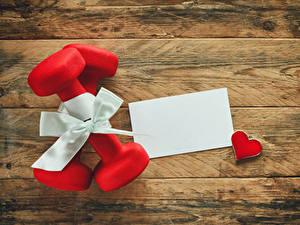 Картинка Праздники Доски Подарков Гантелями Серце Шаблон поздравительной открытки Бантик