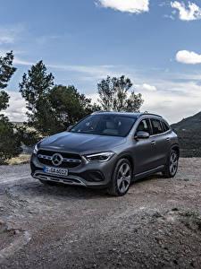 Обои Mercedes-Benz Серая 2020 GLA 220 d 4MATIC Progressive Line Worldwide машины