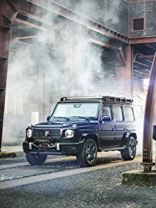 Картинки Мерседес бенц Brabus SUV Синие 2020 Brabus Invicto VR6 Plus ERV Mission автомобиль