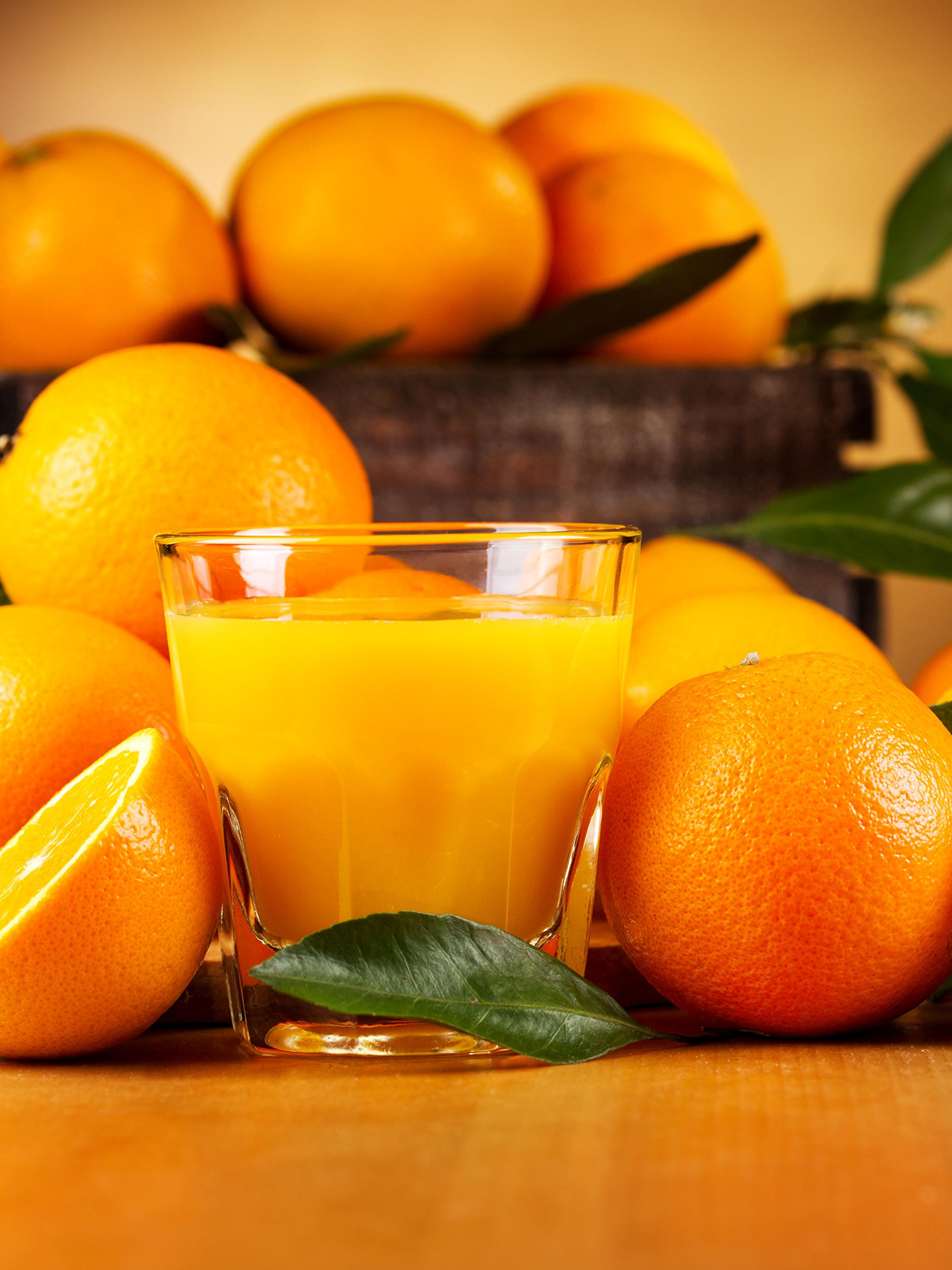 Фото Сок Апельсин стакана Еда Цитрусовые 2048x2732 Стакан стакане Пища Продукты питания