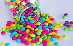 Обои для рабочего стола Конфеты Банке Разноцветные Пища