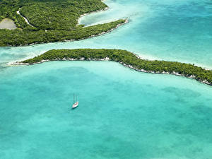 Фото Тропики Леса Море Залив Сверху Bahamas