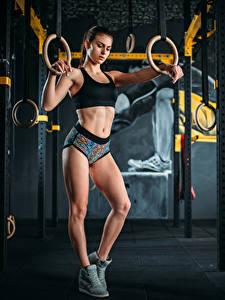 Фото Фитнес Ноги молодые женщины Спорт