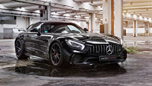 Картинки Mercedes-Benz Металлик Черная 2018 Edo Competition AMG GT R Автомобили