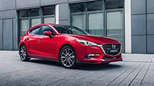 Обои Mazda Красных Металлик 2016-17 Mazda3 Hatchback Accessorized Worldwide Авто