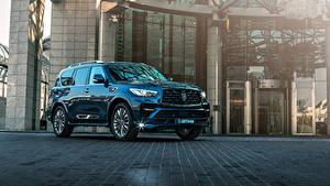 Картинки Инфинити SUV Металлик Синий 2018-19 Larte Design Infiniti QX80 Missuro S Авто