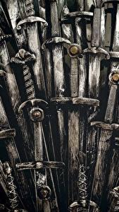 Фото Игра престолов (телесериал) Крупным планом Мечи Трон кино