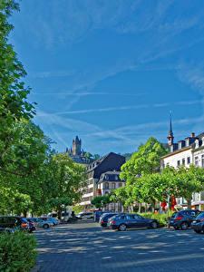 Картинки Кохем Германия Здания Улице Деревьев
