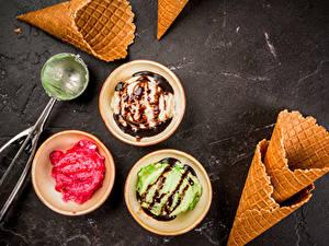 Фото Сладкая еда Мороженое Шоколад Шар