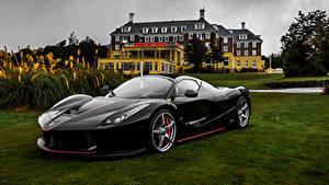 Фотографии Феррари Черный Металлик 2016-18 LaFerrari Aperta Worldwide Автомобили