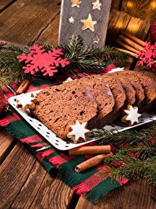 Обои Рождество Выпечка Кекс Доски На ветке Снежинка Продукты питания
