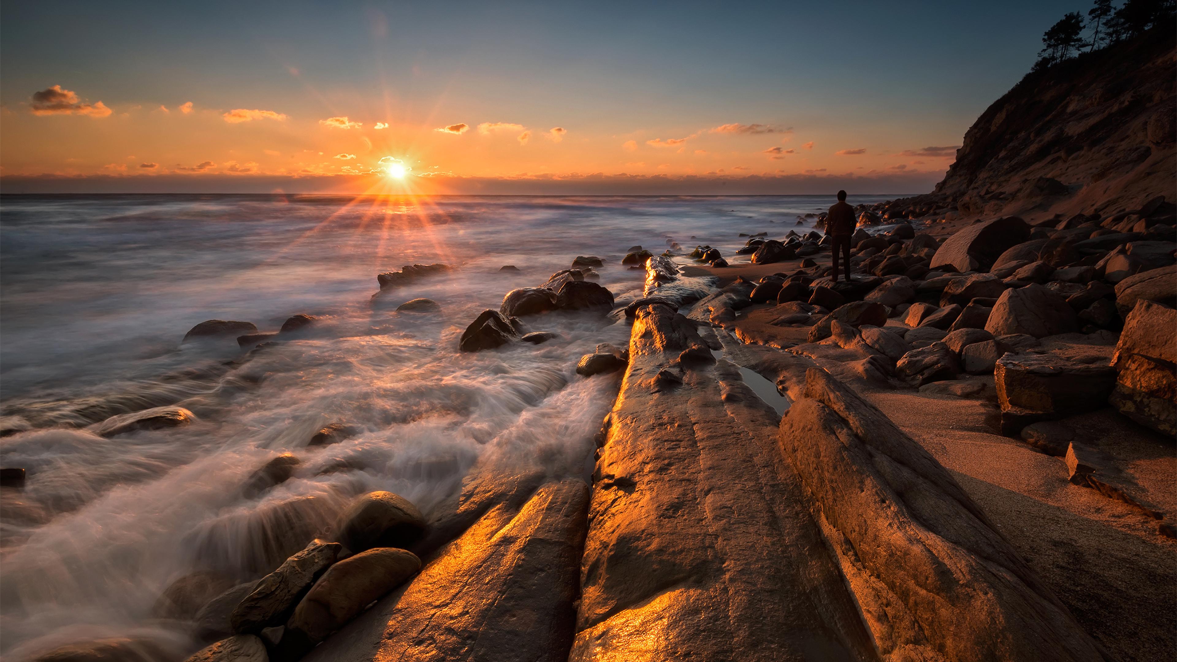Обои утро, побережье. Пейзажи foto 19
