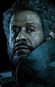 Обои Мужчины Изгой-один. Звёздные войны: Истории Лицо Черный фон Борода Негры Saw Gerrera (Forest Whitaker) Кино Знаменитости