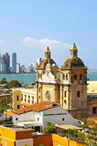 Обои Дома Колумбия Башня Cartagena