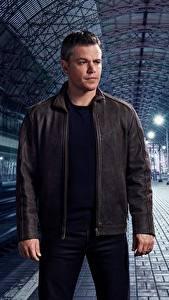 Обои Matt Damon Мужчины Куртка Jason Bourne Знаменитости