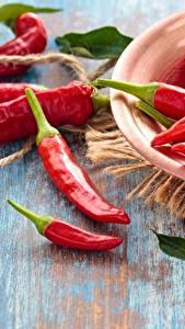 Фото Перец овощной Острый перец чили Красный Продукты питания