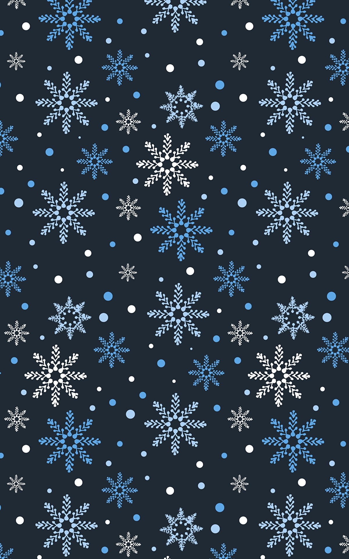 Новогодние Обои На Телефон Со Снежинками