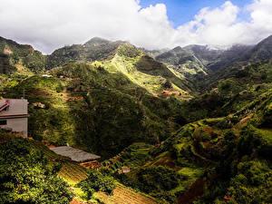 Фотографии Испания Горы Канары Облака Tenerife Природа