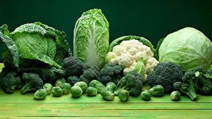 Картинки Овощи Капуста Зеленый
