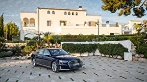 Фотография Audi Синих Металлик 2019-20 S8 Worldwide Автомобили