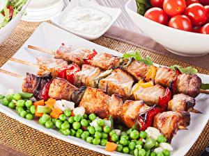 Картинки Мясные продукты Шашлык Горох