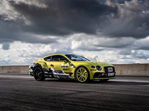 Обои Бентли Облака Сбоку Continental GT Pikes Peak, 2019 Автомобили