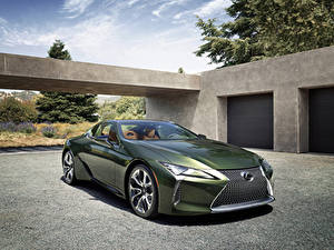 Обои Lexus Зеленые Металлик 2020 LC 500 Inspiration Series авто