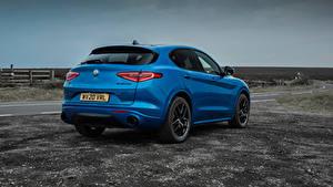 Картинка Альфа ромео Кроссовер Синие Металлик Сзади Stelvio Veloce UK-spec, 949, 2020 автомобиль