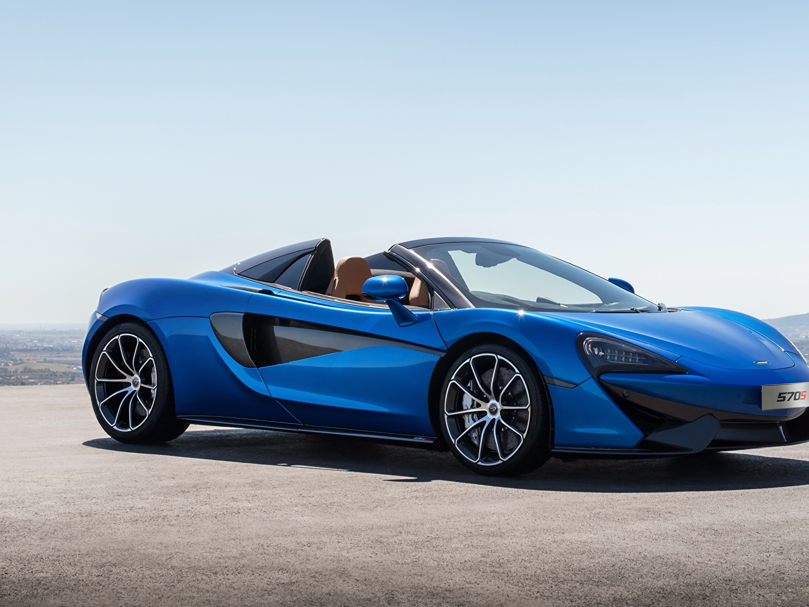 Картинки McLaren 2017 570S Spider Worldwide Родстер синие Автомобили 1600x1200 Макларен синих Синий синяя авто машина машины автомобиль
