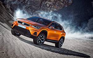 Картинки Seat Оранжевых Concept 20V20 2015 машина