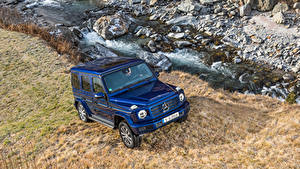 Фото Мерседес бенц Синий Внедорожник Металлик 2019 G 350 d Worldwide Авто