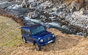 Фото Мерседес бенц Синие SUV Металлик 2019 G 350 d Worldwide автомобиль