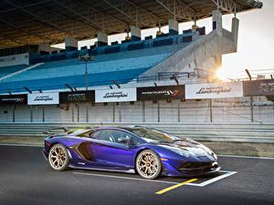 Фотографии Lamborghini Фиолетовый 2019 Aventador SVJ