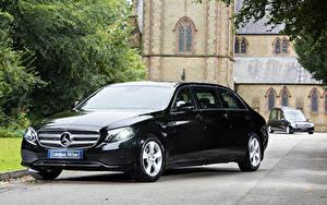 Картинки Мерседес бенц Черный Металлик 2017-19 Coleman Milne Mercedes-Benz E-Klasse Limousine Авто
