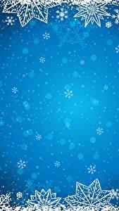 Фото Рождество Шаблон поздравительной открытки Снежинки