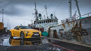 Фотография Лексус Желтый Металлик 2017 LC 500 Автомобили