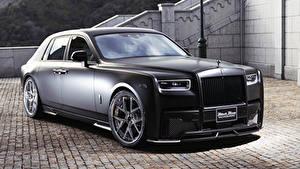 Обои Роллс ройс Черная 2019 WALD Phantom Sports Line Black Bison Edition авто