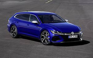 Картинка Volkswagen Синий Металлик Универсал Arteon, R-Line, Shooting Brake автомобиль