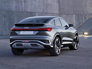 Фото Ауди Кроссовер Металлик Вид сзади Q4 Sportback e-tron Concept, 2020 авто