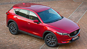Картинка Mazda Красных Металлик 2017 CX-5 Автомобили