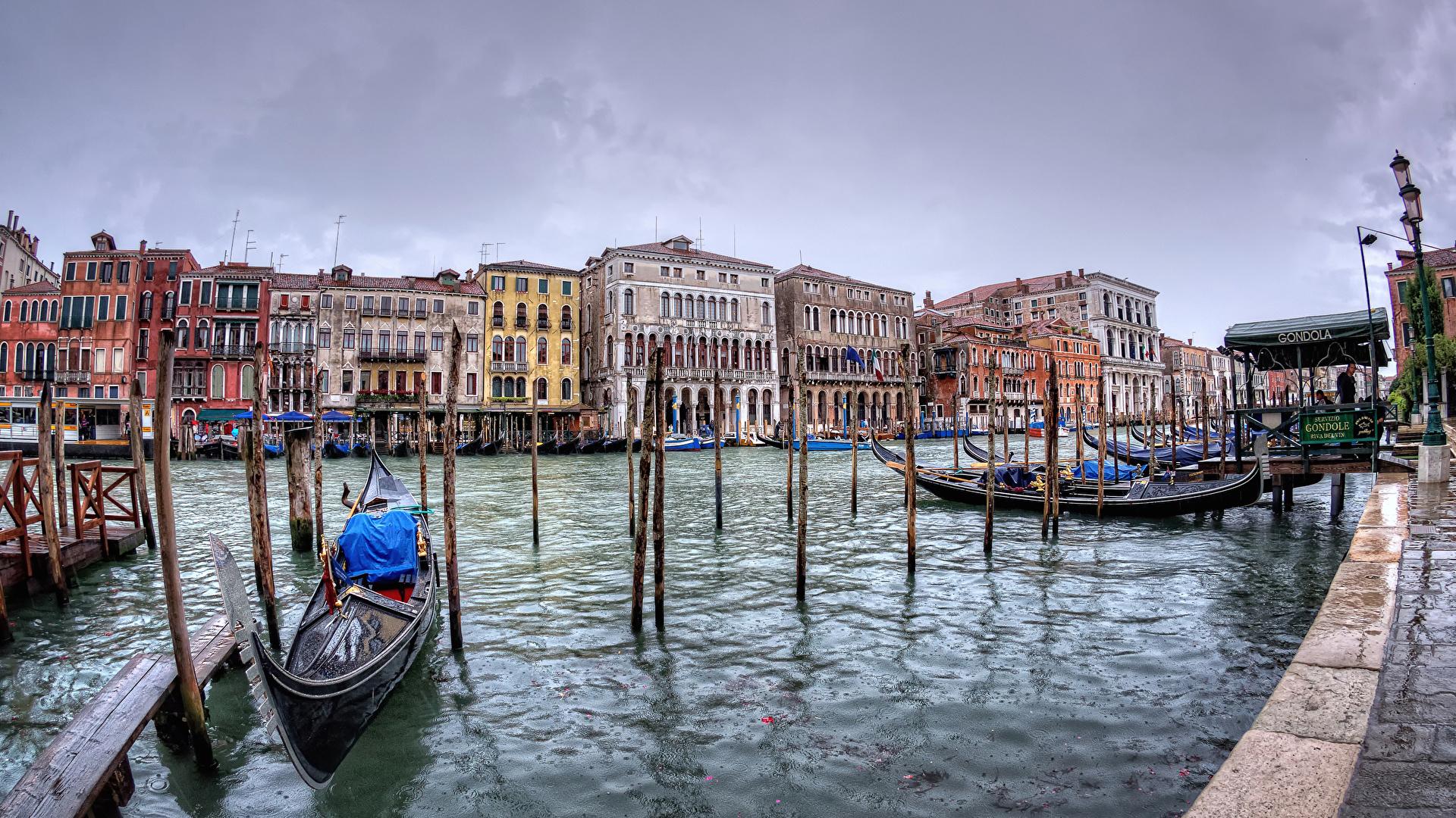 Обои лодка, канал, венеция. Города foto 11