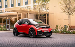 Фотографии БМВ Красные Металлик i3s, UK-spec, (I01), 2018– автомобиль