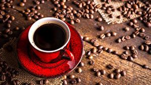 Картинки Кофе Доски Чашка Зерна Пища
