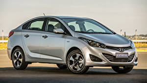 Обои Hyundai Серебряный Металлик Сбоку HB20S Impress, 2015 Автомобили