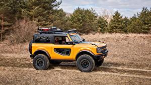 Фото Форд SUV Сбоку Желтые Деревья Bronco 2, Door Preproduction, 2020 Автомобили