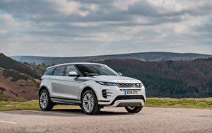 Фотографии Land Rover Белых Металлик Кроссовер 2019 Evoque P300 HSE R-Dynamic Black Pack Автомобили